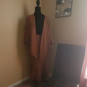 Ashley Stewart 2 piece skirt and shawl  l